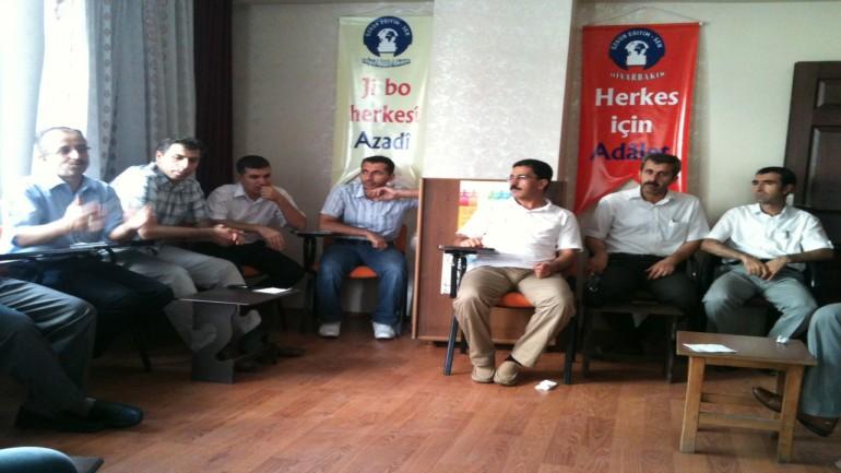 Özgür Eğitim Sen Diyarbakır Şubesi Yıl Sonu Toplantısı Yaptı