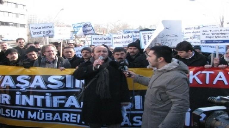DİRENEN MISIR HALKINA DESTEK MİTİNGİ YAPILDI (2012-01-03)
