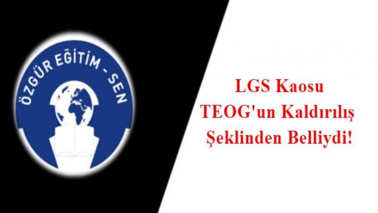 LGS Kaosunun Yaşanacağı belliydi
