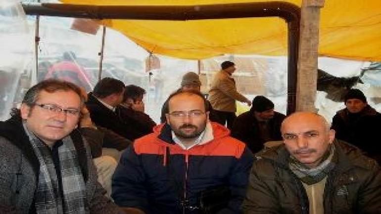 TEKEL işçilerine destek ziyareti (2012-01-03)