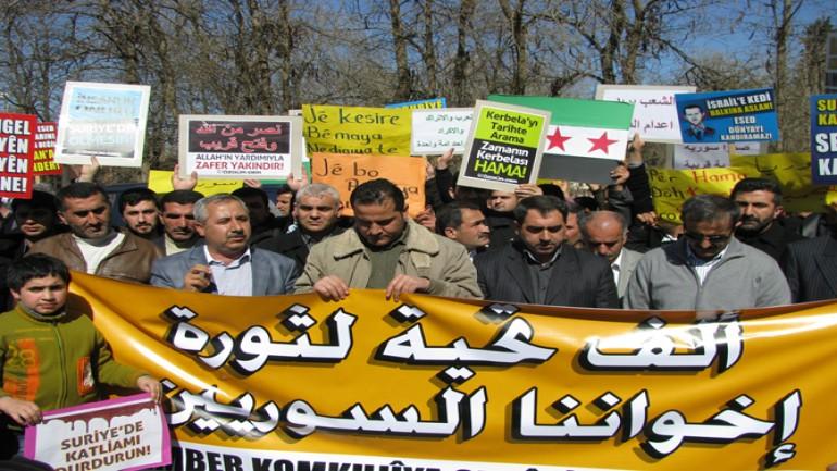 KATİL ESAD PROTESTO EDİLDİ