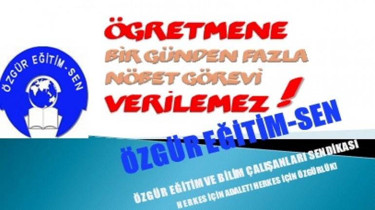 NÖBET İŞKENCESİ BİTSİN!