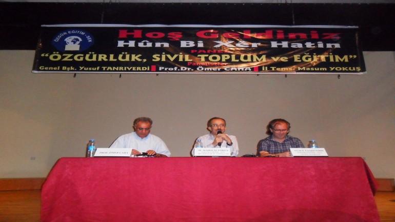 Özgürlük, Sivil Toplum ve Eğitim Paneli