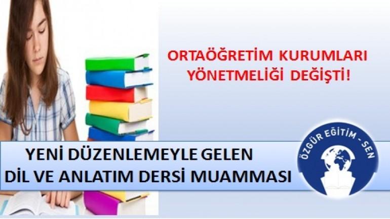 """""""DİL VE ANLATIM"""" DERSİ MUAMMASI"""