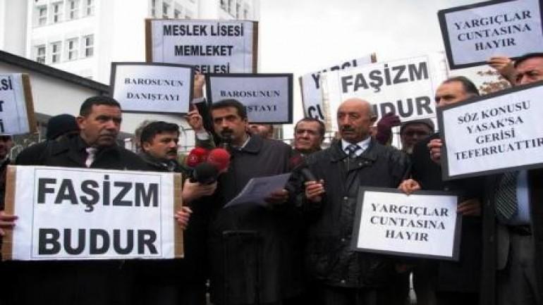 Ankara'da katsayı yasağı protesto edildi (2012-01-03)