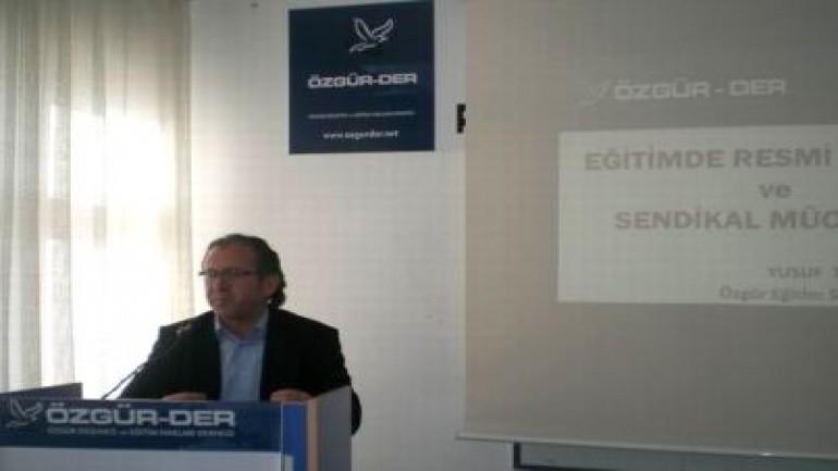 """Çorum'da """"Eğitimde resmi ideoloji ve sendikal mücadele"""" semineri (2012-01-03)"""