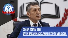 Sayın Bakanın Açıklaması Üzüntü Vericidir