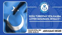Doğu Türkistan veya kalbim, lütfen dayanmaya devam et!