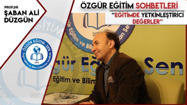 Prof.Dr. Şaban Ali Düzgün: İnsan bizatihi bir değerdir ve ona karşı işleyen tüm mekanizmalar bloke edilmelidir