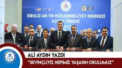 """Ali Aydın yazdı: """"Sevinçliyiz hepimiz yaşasın okulumuz"""""""